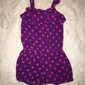 Pink and Putple Polka Dot 4T Romper